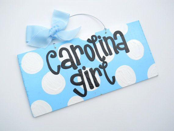 3 DOLLAR SALE Carolina Girl Sign Polka Dot by yourethatgirldesigns, $3.00