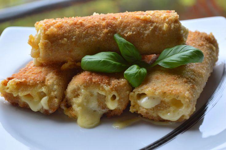 W kuchni u Moniki...: Krokiety z chleba tostowego z serem żółtym, na szy...