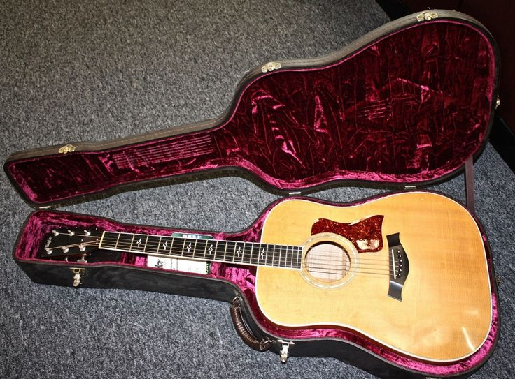 #guitar Taylor 610 Acoustic Guitar in Brown Leather Case please retweet