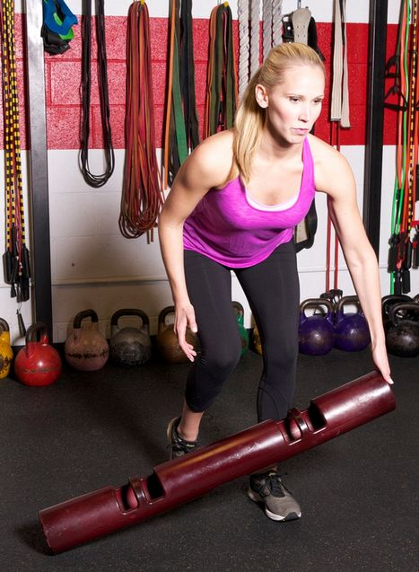 The lateral VIPR tilt benefits the hips and the core.