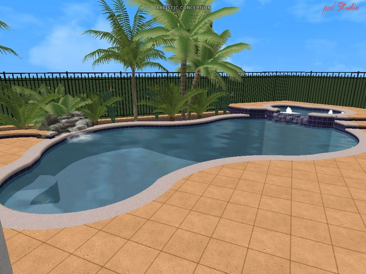 Swimming Pool Designs in 3D drawings.We have the expertise and knowledge to be your choice for a Orlando Florida Pool Installer.