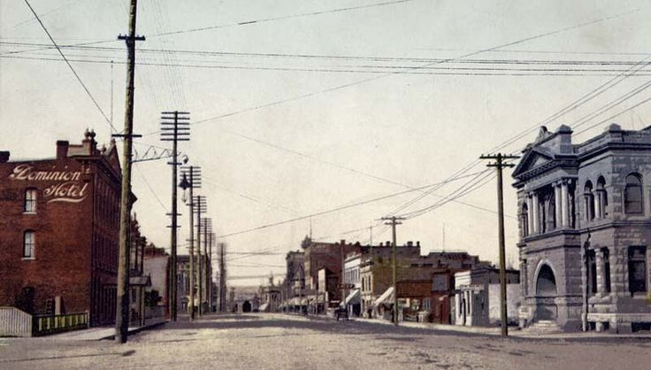 Not sure when this was, but it's Yates Street looking toward Douglas.