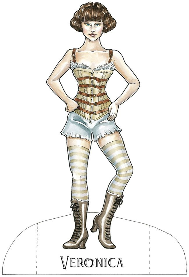 Steampunk Paperdolls by Ramona Szczerba, from Dover Publications