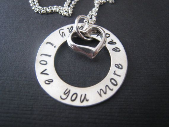 Spinning Heart Hand Stamped Sterling Silver by stampedjewellery, $48.00