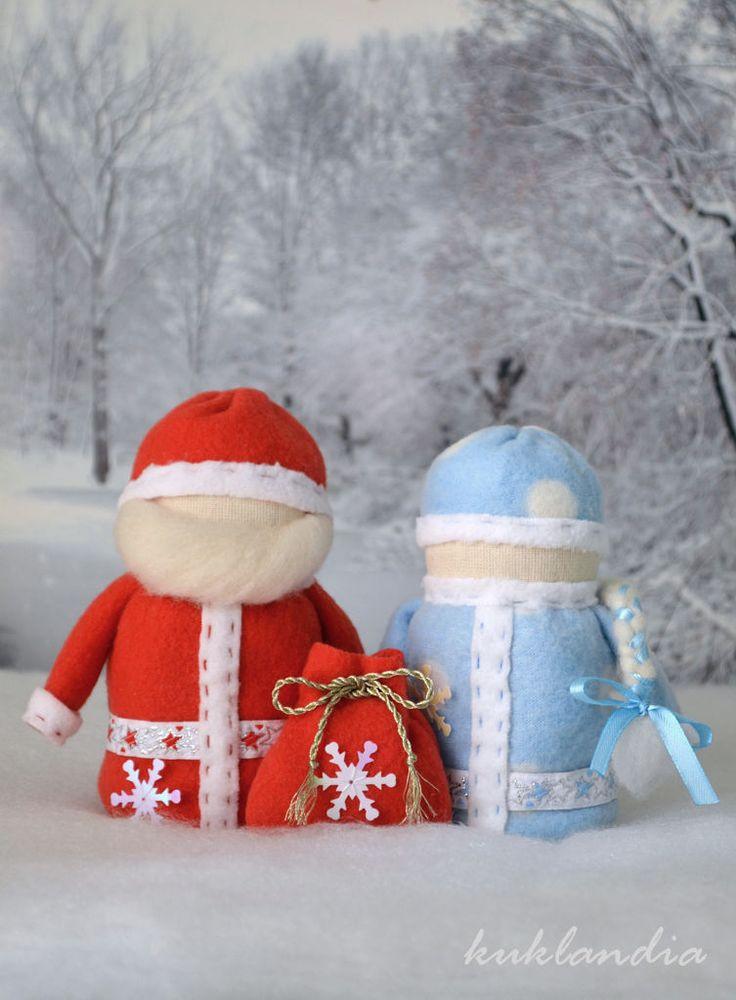 Купить Крупеничка и Богач - куклы, обереги, Дед Мороз и Снегурочка, крупеничка и богач, богач, крупеничка