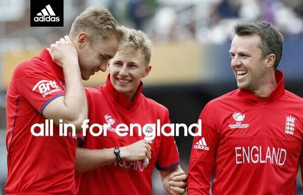 All in for the England cricket team, featuring Stuart Broad, Joe Root & Greame Swann.