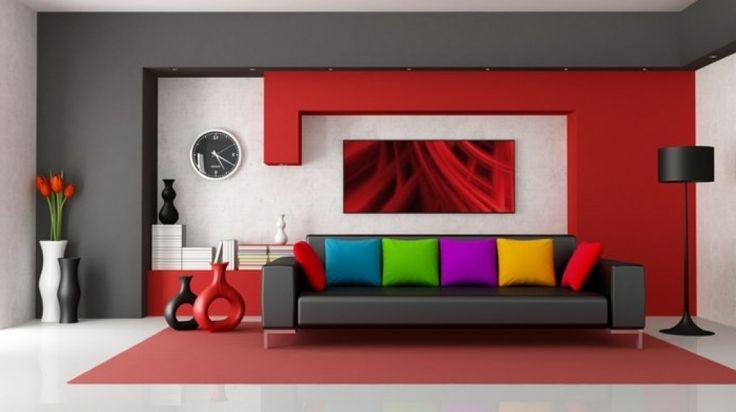wohnzimmer deko orange wohnzimmer ideen rot wohnzimmer