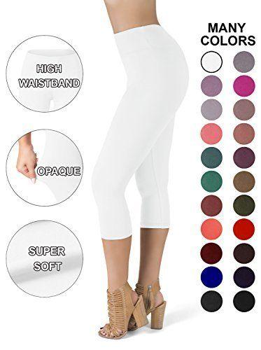 6600fa261af SATINA High Waisted Super Soft Capri Leggings - 20 Colors - Reg   Plus Size   Leggings