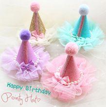 Бесплатная доставка так красиво фея блестящий день рождения ну вечеринку шляпа бантики на клип головные уборы зоосалон аксессуары(China (Mainland))