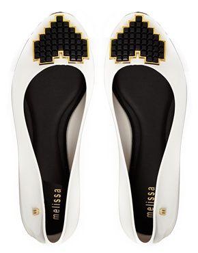 Enlarge Melissa Color Feeling Heart White Flat Shoes