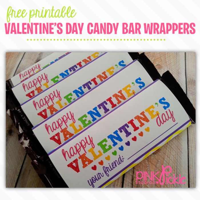 21 best free printables from pink pickle studios images on for Valentine candy bar wrapper templates