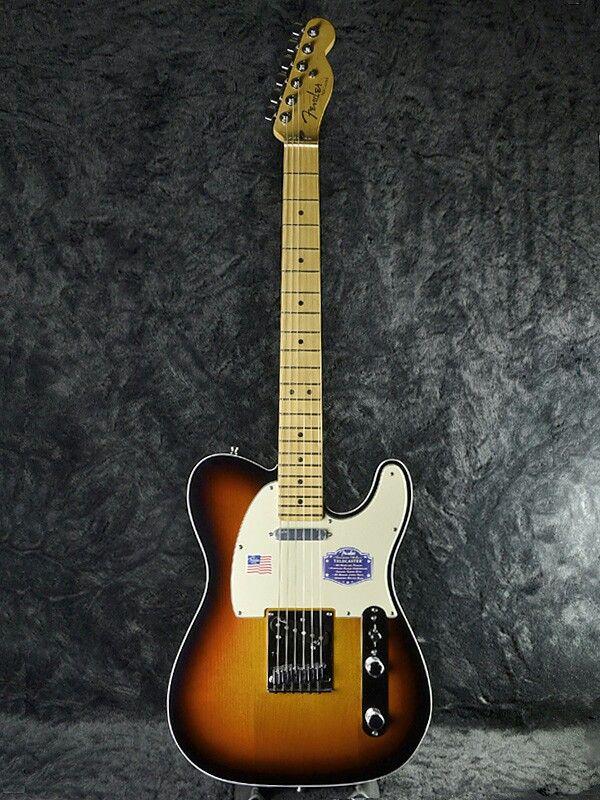 Fender American Deluxe Telecaster Electric Guitar Three Tone Sunburst