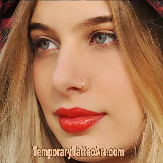 Fake Nose Ring Body Jewellery - Silver - no piercing required
