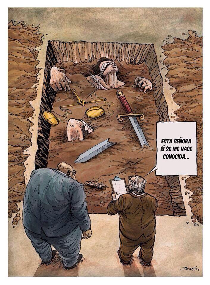 """The """" cartoonists """" in Mexico only portray our grim reality. #Ayotzinapa Is the tip of the large iceberg that emerges from the terrible attitudes of the political class. We have laws but no justice. Los """" moneros"""" (caricaturistas) en México sólo retratan la realidad. #Ayotzinapa es la punta del """"iceberg"""" del gran témpano que se desprende de parte de la clase política."""