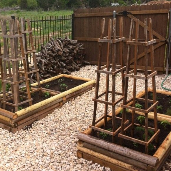 wooden tomato cages from Meyer Brant on pinterest