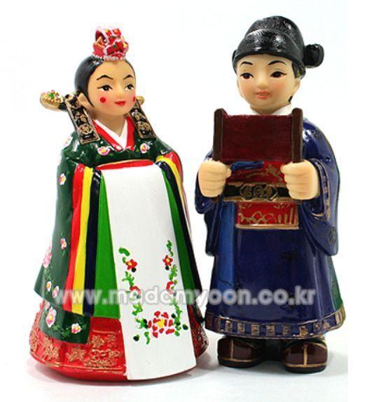 Korean Traditional Wedding Couple DOLLS (Bride & Groom) & Famous Amazing Figures #YOONCIBANG #Dolls
