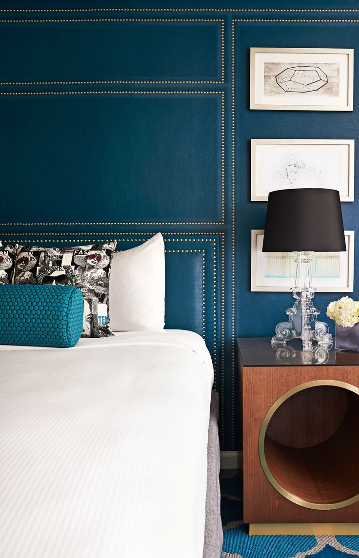 Subtly retro furnishings and rich textures.