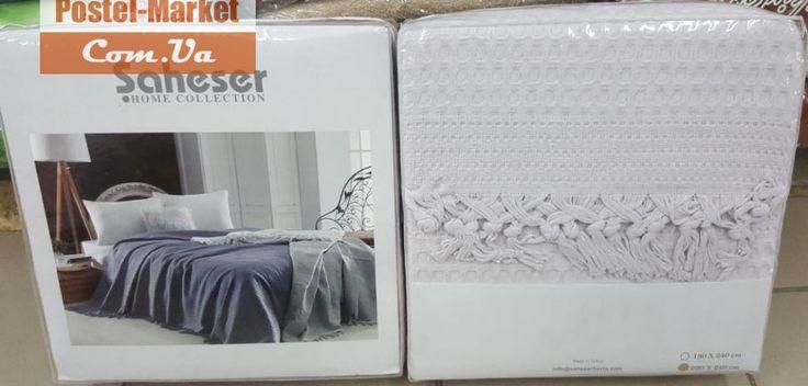 Покрывало-пике летнее Saheser серое. Купить Покрывало-пике летнее Saheser серое в интернет магазине Постель маркет (Киев, Украина)
