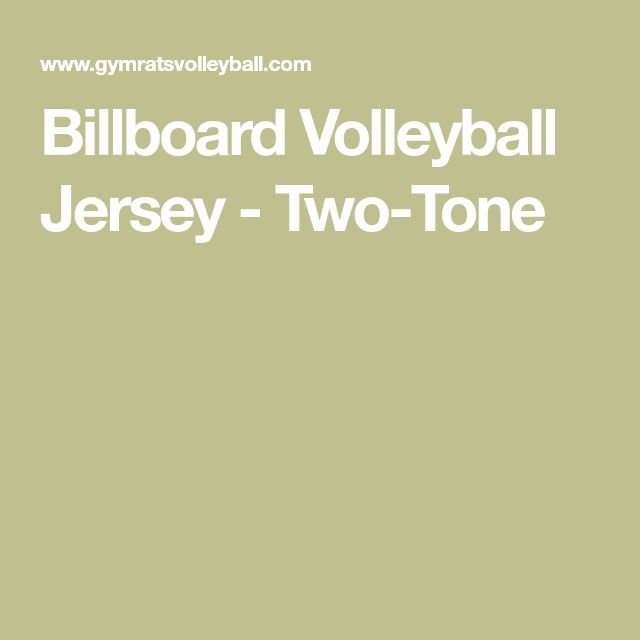 Billboard Volleyball Jersey - Two-Tone