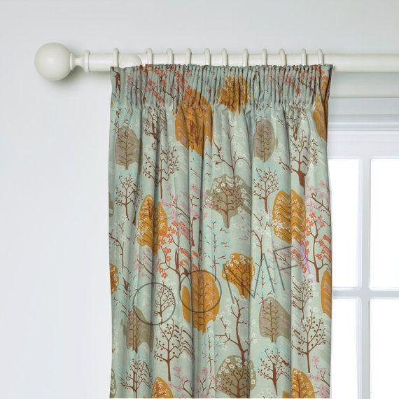 Scandinavian Curtains Tree Curtains Custom By