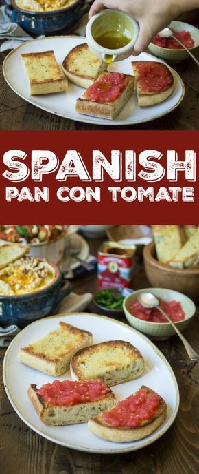 Pan con Tomate (bread with tomato) just might be the easiest– yet tastiest!– appetizer you'll ever make. Pair with a few Spanish tapas to create a filling and delectable meal!