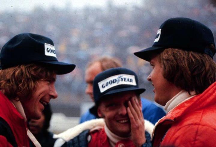 pi James Hunt-Nick Lauda-Ronnie Peterson-Japan GP 1976
