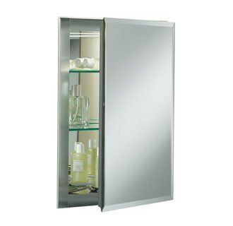 "View the Kohler K-CB-CLR1620FS 16"" x 20"" Single Door Reversible Hinge Frameless Mirrored Medicine cabinet. Need one for master and one for guest. Also build in cabinet on wall in master. Use cottage trim around mirrors."