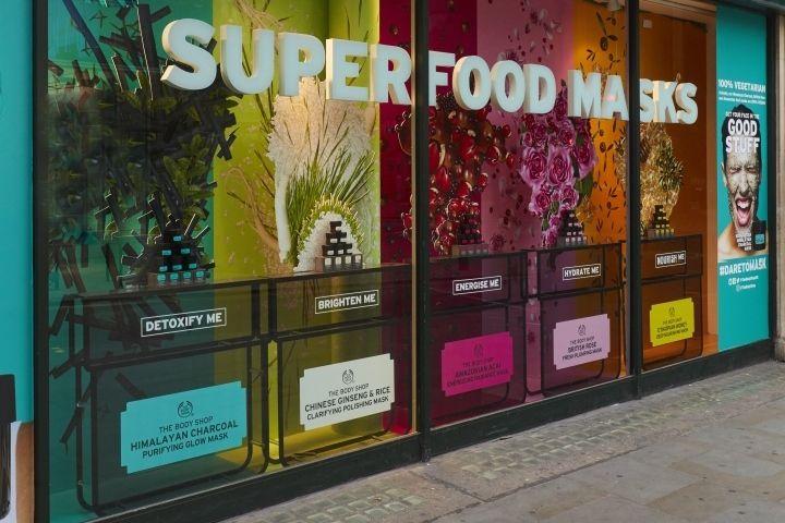The Body Shop Masks windows by studio XAG, London – UK » Retail Design Blog