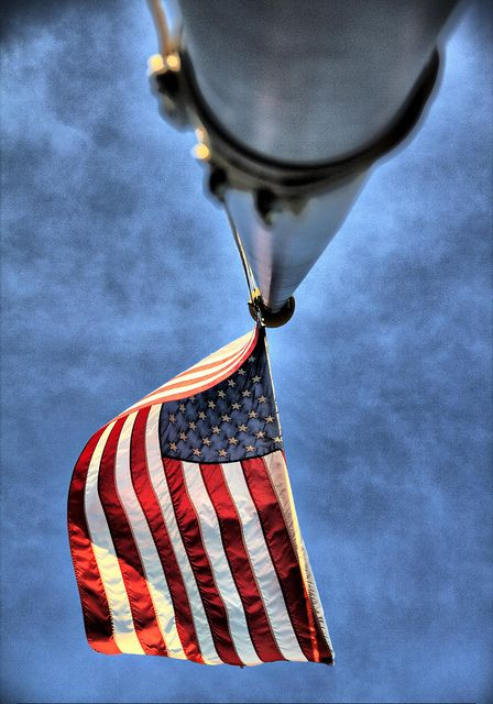 She still flies........and what a absolute - beautiful photo- this is amazing.....Flag made in China. Wrong... MADE IN AMERICA