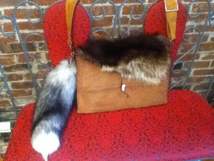 """Un sac pour transporter un laptop """"En souvenir du renard mauve..."""" Une demande spéciale de André, pour une amie Marie-Philippe"""