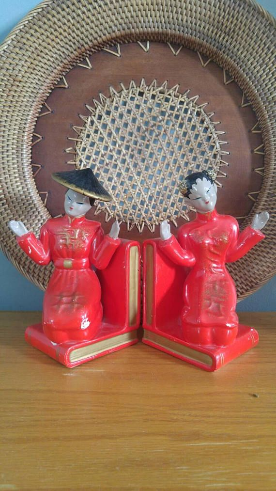 Vintage 1950s oriental wall pictures decor