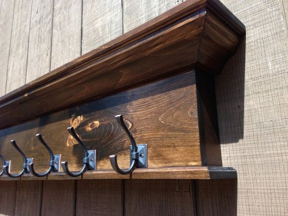 17 best ideas about wall shelf with hooks on pinterest diy coat rack farmhouse bench and. Black Bedroom Furniture Sets. Home Design Ideas