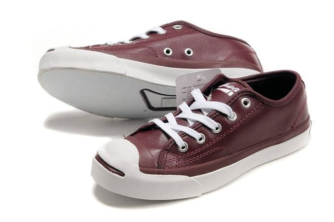 Converse Jack Purcell Shoes Claret Leather