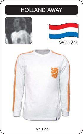 Nederland voetbalshirt WK 1974 (uitshirt) Holland retro voetbal truitje football soccer vintage sport COPA