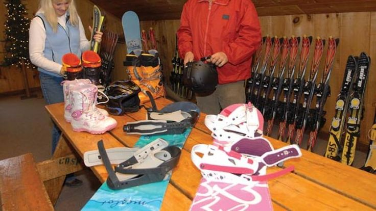 Suzanne Thomas and John Dickinson of Buena Vista Ski Area prepare for the Open House and Ski Patrol Fundraiser Snow Gear Sale from 10 a.m. to 2 p.m. Saturday. Fifteen percent of each consignment of snow gear goes to the Ski Patrol for training and medical education. Several vendors will also be displaying winter apparel and sports gear.
