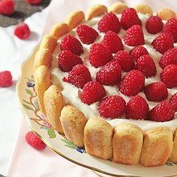 Raspberry Charlotte - A simple yet elegant no bake dessert.