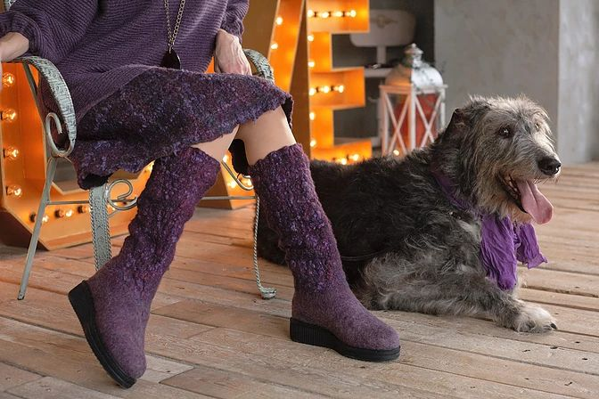 фиолетовые сапоги 1