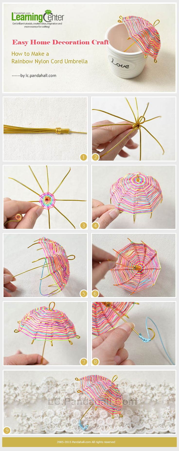 57 best pooja decor images on pinterest diwali decorations how to make a rainbow nylon cord umbrella