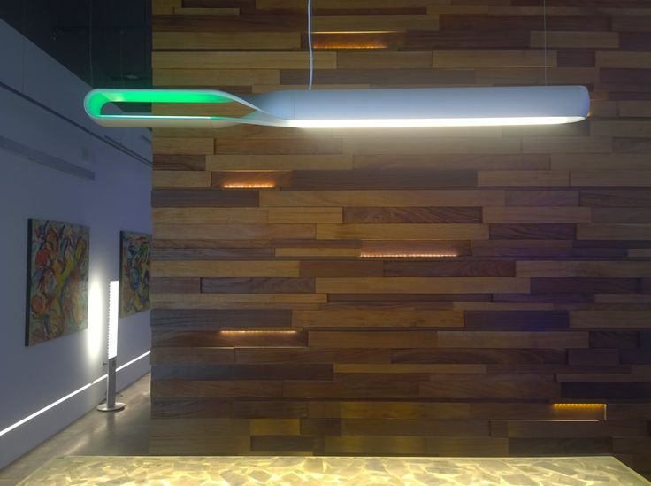 Linear Suspension Lamp from QisDesign for front desk