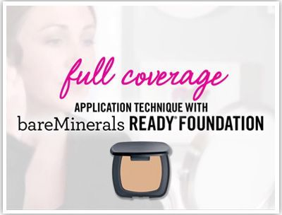 bareMinerals READY SPF 20 Foundation - Full Coverage Application.... I LOVE this product and the precision brush, but you gotta use the brush the right way or your foundation will not look good.