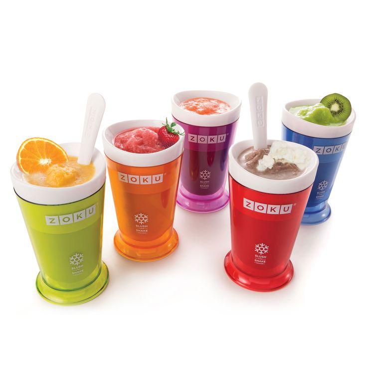 Make Slush fast —and milkshakes too — with the Zoku® Slush & Shake Maker!