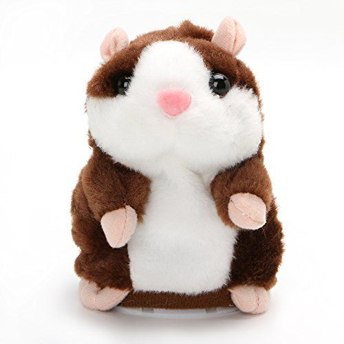 EA STONE The Cute Talking Hamster Repeats What You 6 seconds Say Can Nod Electronic Toy 5.9 ' Brown. #STONE #Cute #Talking #Hamster #Repeats #What #seconds #Electronic #Brown