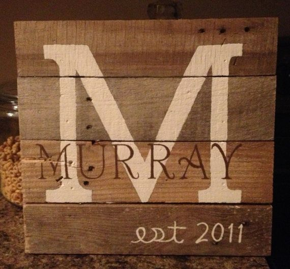 Personalized HandPainted Name on Pallet Art by CarolinaHomemade, $35.00  I've already got the pallet wood cut!
