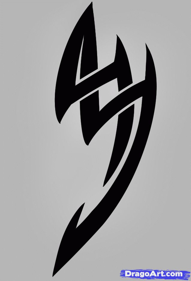17 best ideas about simple tribal tattoos on pinterest for Simple tribal tattoo