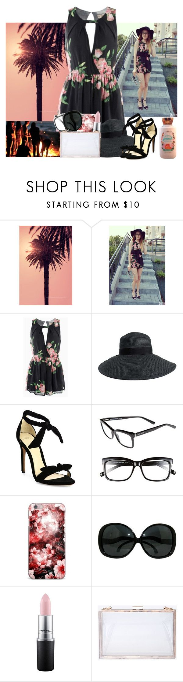 """Bonfire Party"" by diane-corporan ❤ liked on Polyvore featuring WALL, Alexandre Birman, Bobbi Brown Cosmetics and MAC Cosmetics"