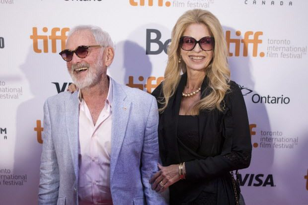 Norman Jewison (left) and Lynne St.David-Jewison arrives on the red carpet.  THE CANADIAN PRESS/Chris Young   TIFF14