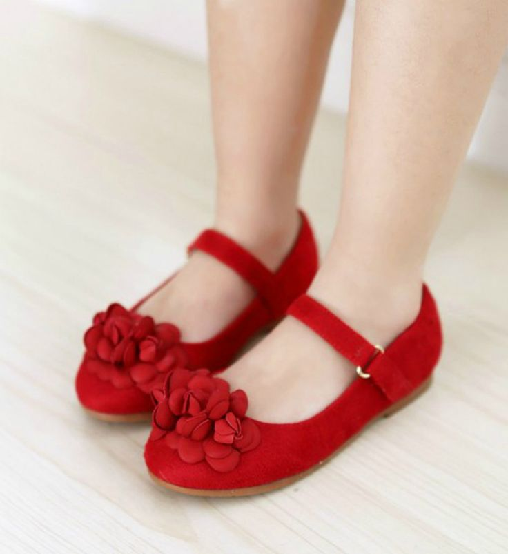 Toddler & Little Girl Shoes-Red Casual Comfortable Toddler & Little Girl Flower Girl Shoes Material: Leather suede Perfect for weddings, birthday, communion, baptism, christmas or baby shower gift