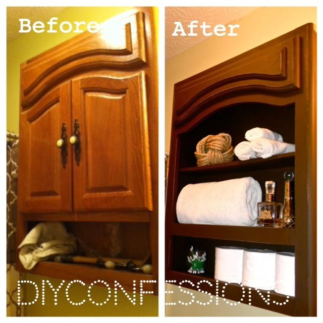 frugal bathroom medicine cabinet makeover diytutorial