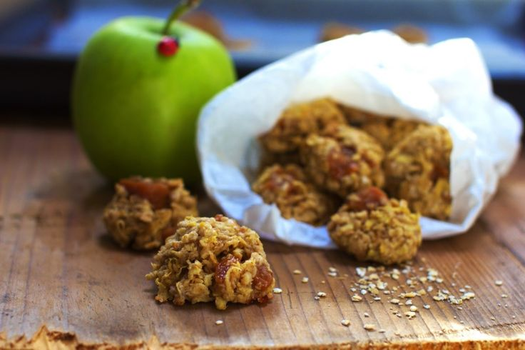 Owsiane Ciasteczka z Jabłkami i Krówkami  Just My Delicious