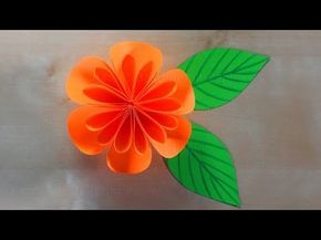 Paper flowers: How to make a paper flower - Tutorial - 3D - Origami flower - Blossom - YouTube